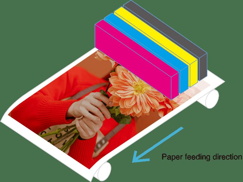 用紙の搬送方向