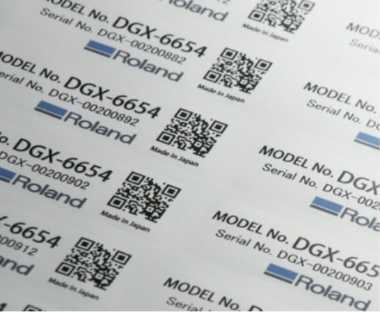 Variable printing labels for serial numbers